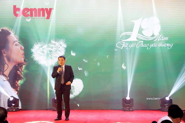 Ông Trần Trung Kiên - Giám đốc Công ty Benny phát biểu tại sự kiện.